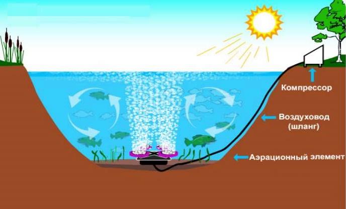 водный прудовый аэратор